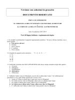 Questionario e risposte Test A.A. 2013-2014