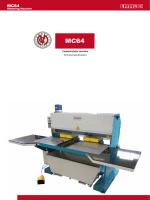 Caratteristiche tecniche Technical specifications Mittering