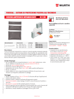Cuscini antifuoco intumescenti FPP EI 120