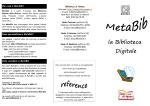 Che cosa è MetaBib? - Biblioteca di Ateneo
