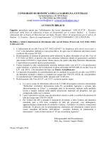 consorzio di bonifica della sardegna centrale avviso pubblico