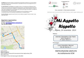 Brochure Mi Aspetto Rispetto - Azienda Ospedaliera San Paolo