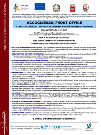 ACCOGLIENZA, FRONT OFFICE