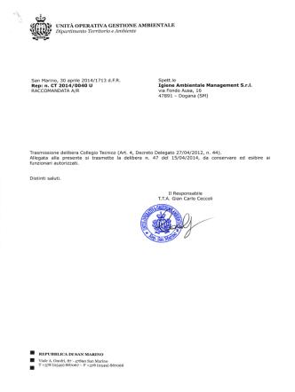 Autorizzazioni IAM Stoccaggio - Igiene Ambientale Management