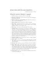 Piccola bibliografia di Meccanica Quantistica