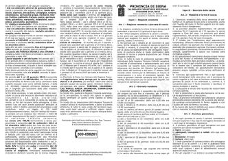 calendario venatorio siena 2014/2015