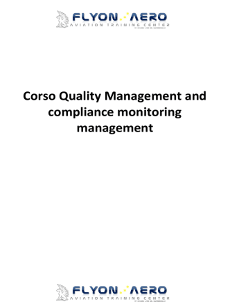 Corso Quality Management and compliance monitoring management