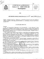 Settore VJ[ - SERVlIZIO III - Randagismo-