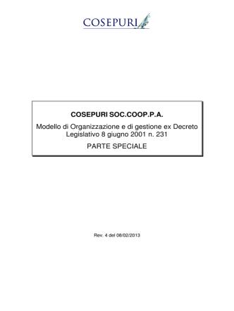 COSEPURI SOC.COOP.P.A. Modello di Organizzazione e di