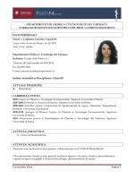 Curriculum Vitae Pagina 1 DIPARTIMENTO DI CHIMICA E