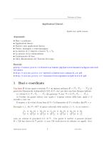 Applicazioni lineari - Politecnico di Torino