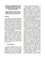 modello frazionario per il comportamento elasto