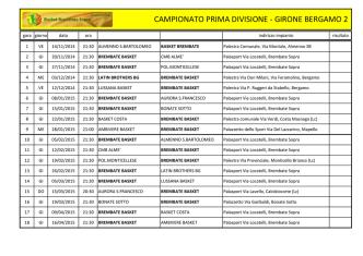 Calendari Campionati - 1^ Divisione
