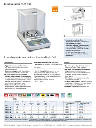 Bilancia analitica KERN ABT Il modello premium con sistema di