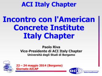 ACI Italy Chapter