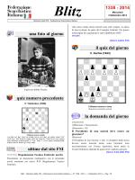 Blitz 1338 - 2014 - Federazione Scacchistica Italiana