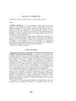 1664 ASO LULU, 16 APERILA 2014 Na nofoia le Nofoa e le Fofoga