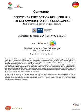 Convegno EFFICIENZA ENERGETICA NELL