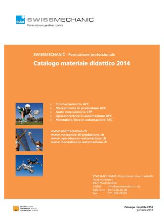 Catalogo materiale didattico 2014