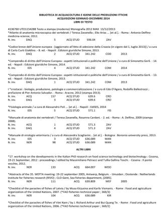 acquisizioni anno 2014