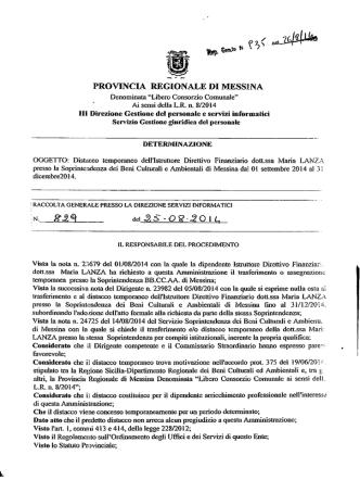 D.D. 935 N 829 - Provincia Regionale di Messina