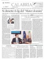 """Si dimette il dg del """"Mater domini"""""""