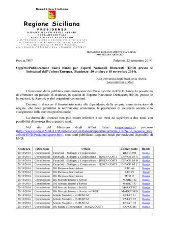 Bandi END - Università degli Studi di Messina