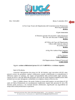 1 Prot. 710/14/SN Roma, 9 settembre 2014 Al Vice Capo Vicario del