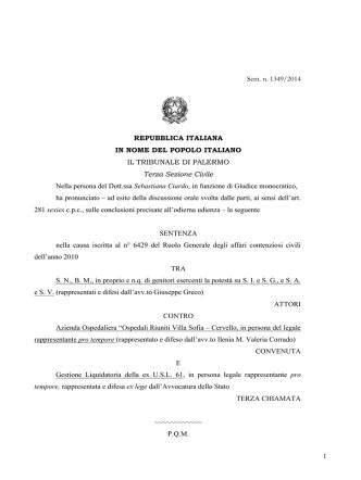 11 marzo 2014 - Diritto Civile Contemporaneo