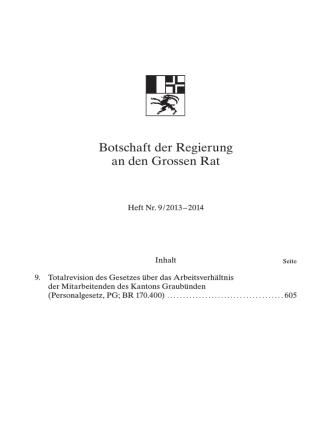 Botschaft Heft Nr. 9 / 2013-2014