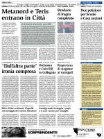 Metanord e Teris entrano in Città - Giornale del Popolo