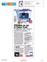 Stampa in 3D a casa tua