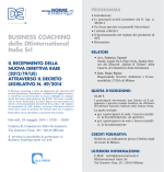 BUSINESS COACHING della DEinternational Italia Srl