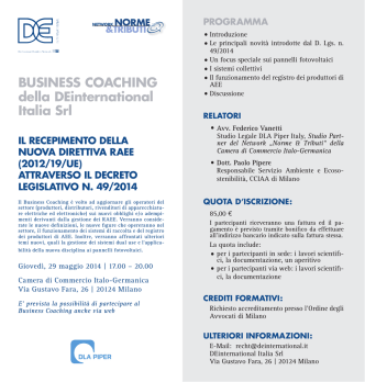 BUSINESS COACHING della DEinternational Italia Srl