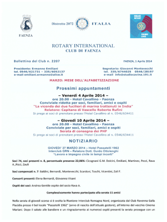 agi - Rotary Club Faenza
