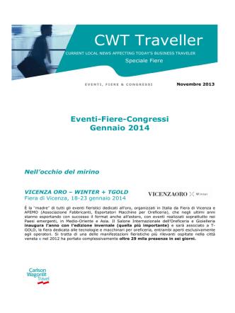 CWT Traveller Speciale Fiere - Gennaio 2014