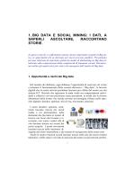 1. big data e social mining: i dati, a saperli ascoltare