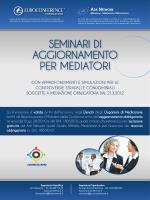 seminario la mediazione nelle controversie