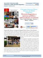 Resoconto Carovana 2014 - Associazione LEM Italia