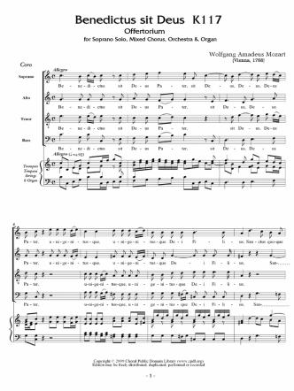 Benedictus sit Deus K1 17 - The Choral Public Domain Library
