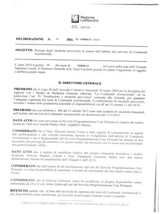 delibera n. 31 del 30.01.2014