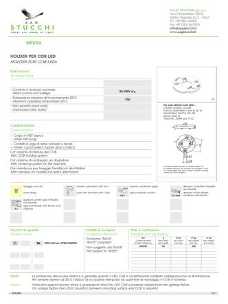 8101/G2 HOLDER PER COB LED HOLDER