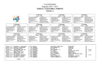 calendario campionato prima squadra girone a