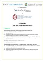 CONVEGNO Jobs Act: come cambia il lavoro Programma