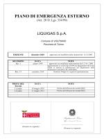 Piano di Emergenza Esterno - Liquigas S.p.A.