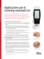 Applicazione per lo screening neonatale Eve™ *
