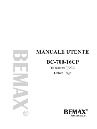BC-700-16CP - Manuale in Italiano