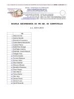 Classi 1A-1B Sec. pr. gr. Campitello a.s. 14-15