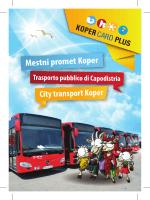 Brošura: Mestni promet Koper
