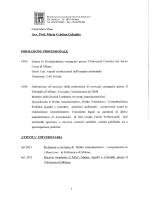 Curriculum Vitae Avv. Prof. Maria Cristina Colombo